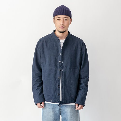 Moroco short collar jacket - Navy