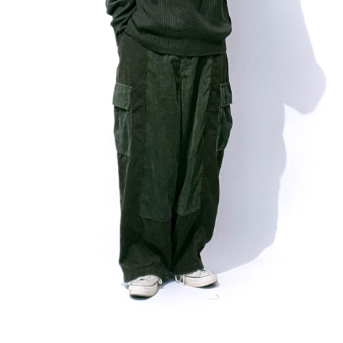 Caravan remake wide pants - Khaki