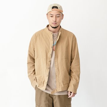 Moroco short collar jacket - Beige
