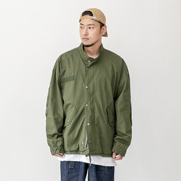 Fish tail short parka - Khaki