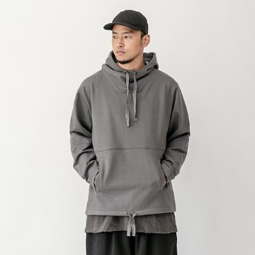 Daish heavy cotton hoody - Charcoal