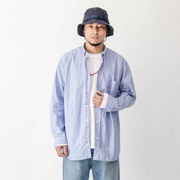Sunday stripe snap shirts - Sky Blue