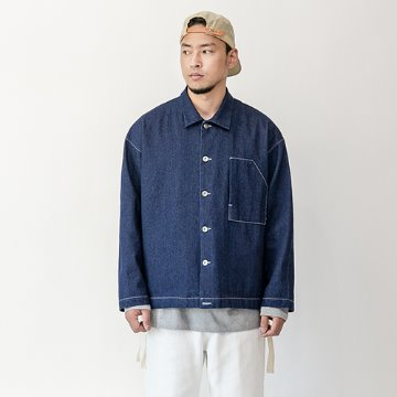 Mori non-washing denim jacket