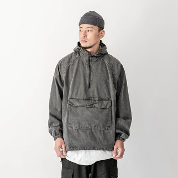 Garments dyeing hoody - Charcoal