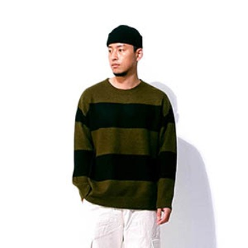 Baros retro stripe knit