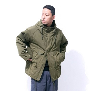 Washer cargo jacket - Black / Khaki / Gray