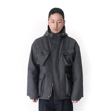 Garments wool hoody jacket