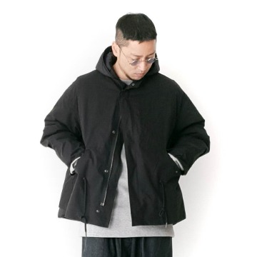 Victor 3-way short fishtail parka - Black