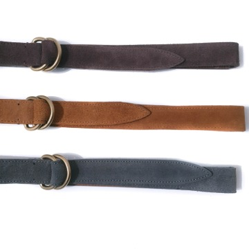 Croket suede belt - Brown / Camel / Charcoal