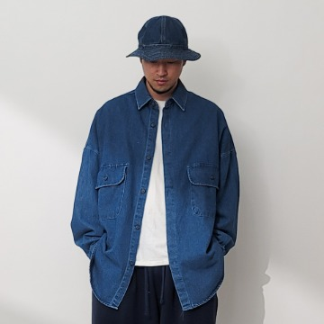 네이키드소울 Champ denim shirts - 2 color
