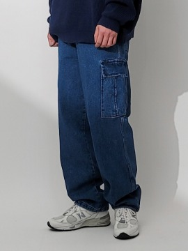 네이키드소울 City boy denim cargo pants - 2 color